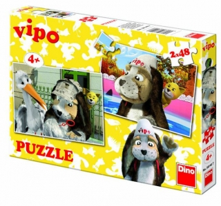 Dino Puzzle Vipo 2X48D
